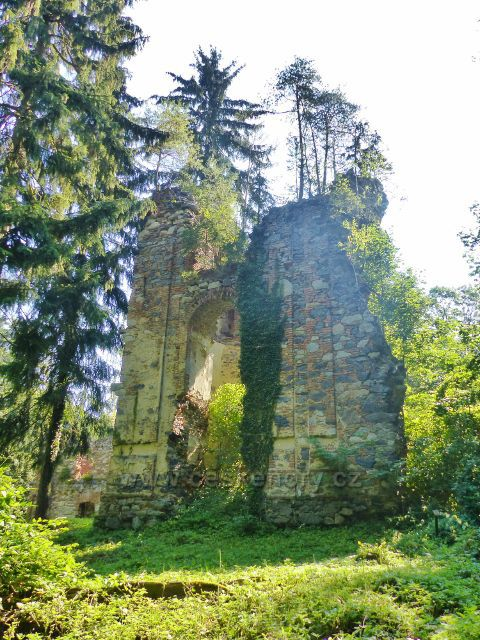 Tachov - zřícenina kláštera Paulánů ve Světcích