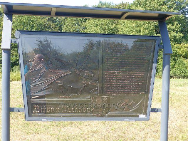 Tachov - pamětní deska u památníku Bitvy u Tachova