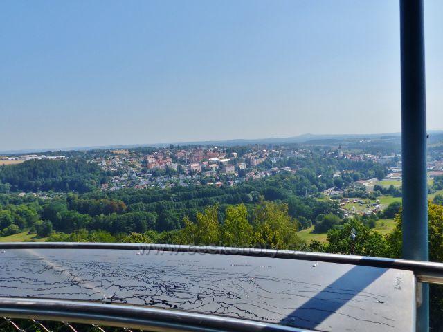 Tachov - pohled z rozhledny Vysoká na město Tachov
