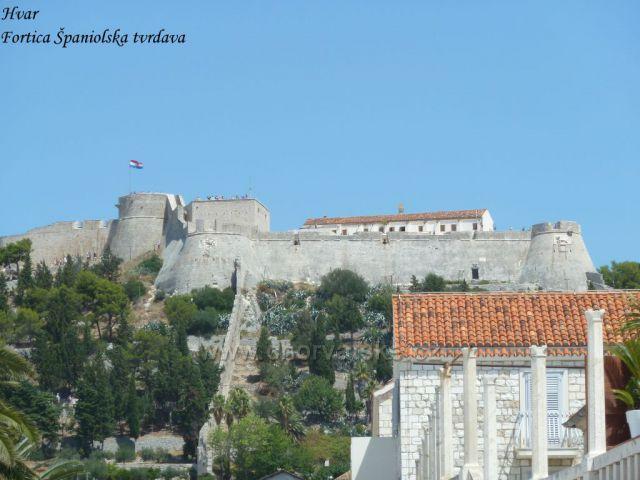 Hvar,pevnost Španijolska tvrdava ze 16.století