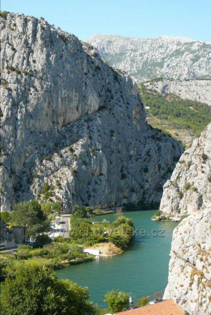 Omiš - ústí řeky Cetiny