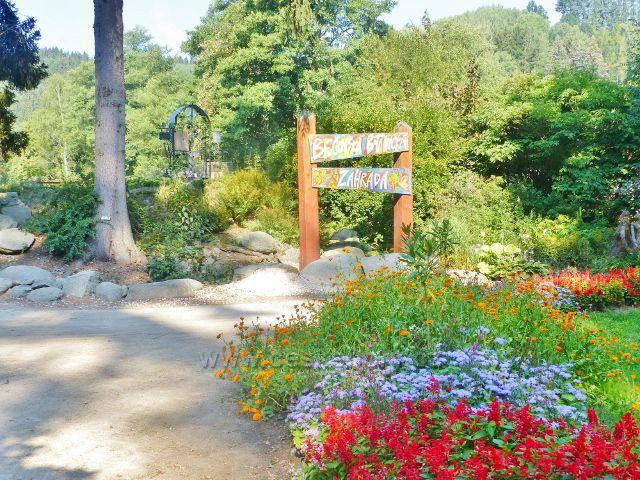 Bečovská botanická zahrada - vstupní část