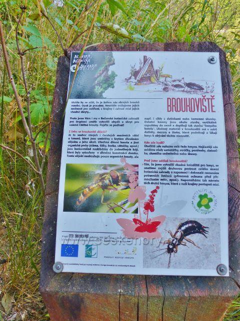 Bečovská botanická zahrada - panel Broukoviště