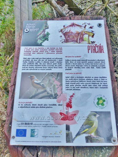 Bečovská botanická zahrada - panel Ptáčník