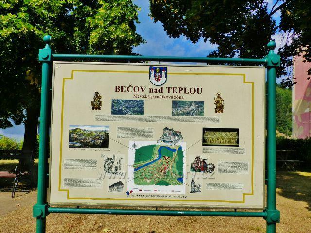 Bečov nad Teplou - panel Městská památková zóna vedle bývalé pošty