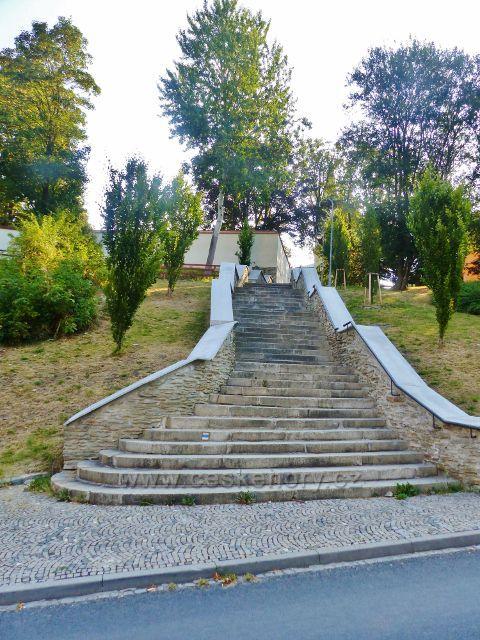 Aš - zámecké schody