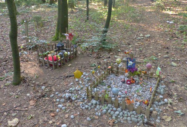 Aš - lesní hřbitov domácích miláčků pod cestou ke Sportovnímu areálu