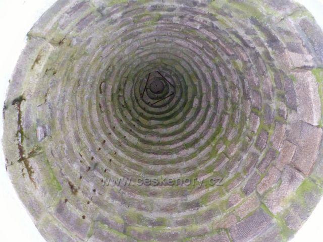 Aš - pohled do kopule rozhledny Háj