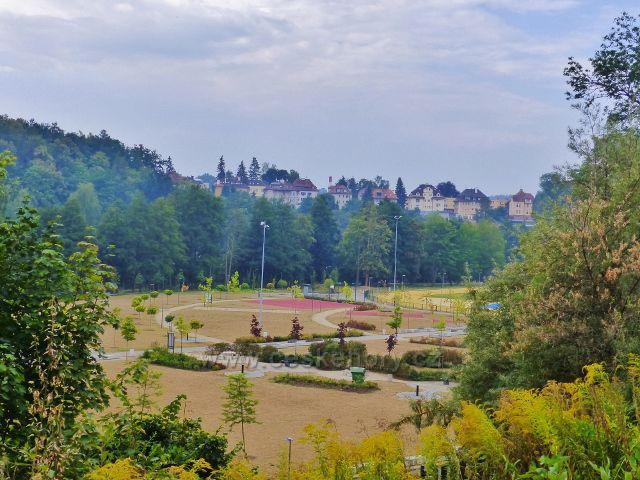 Cheb - sportovně rekreační areál Krajinka