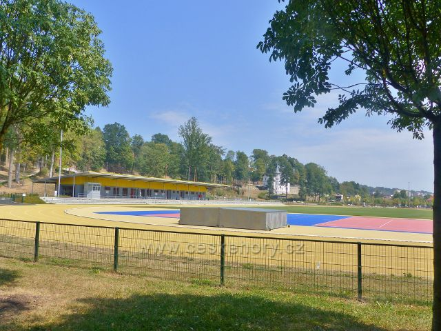 Cheb - atletický stadion v areálu Krajinka