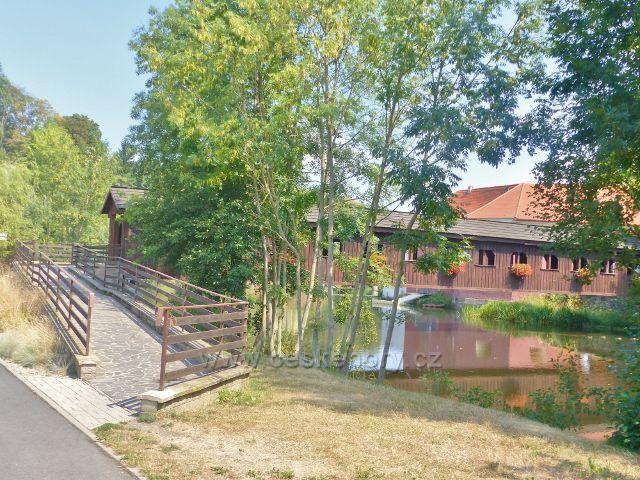 Cheb - krytý most přes Ohře u Písečné brány