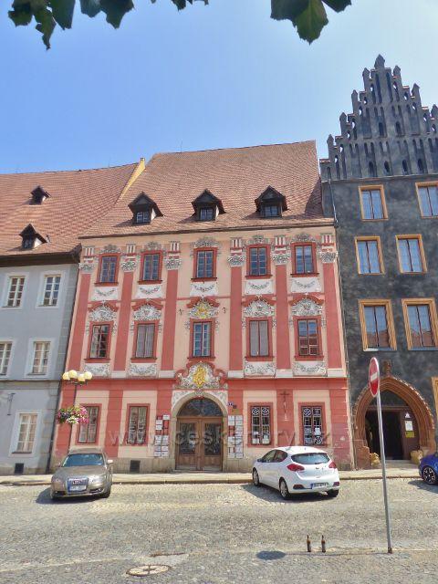 Cheb - Geblerovský dům na náměstí Krále Jiřího z Poděbrad