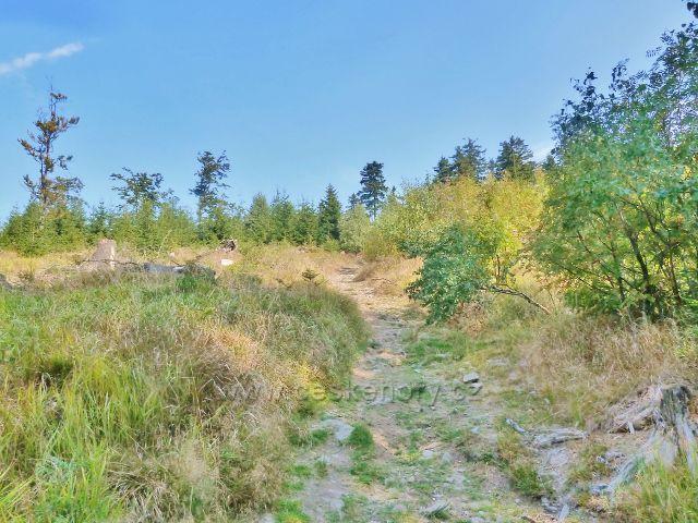Suchý vrch - poslední stoupání na Jiráskově cestě k vrcholu Suchého vrchu
