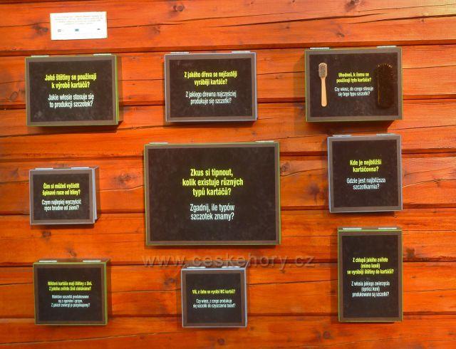 Šanov - expozice o kartáčníctví na přístřešku