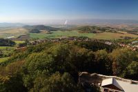 Výhled z věže hradu Kostomlaty