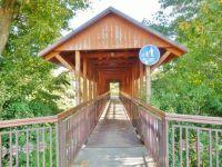 Záměl - krytá dřevěná lávka pro pěší přes Divokou Orlici