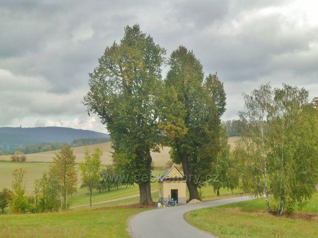 Bystřec - kaplička v horní části obce