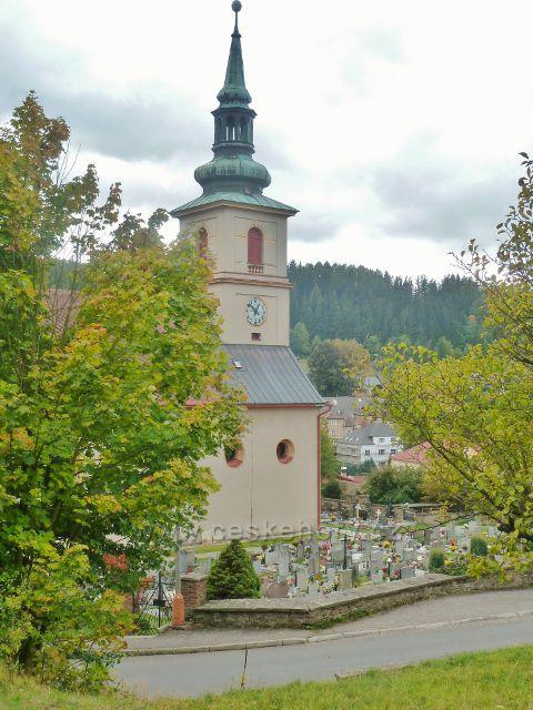 Bystřec - kostel svatého Jakuba Staršího