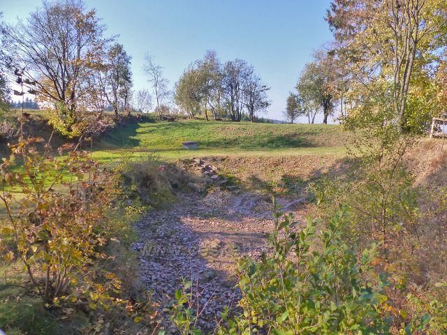 Petrovičky - vyschlé jezírko za Kašparovo chatou
