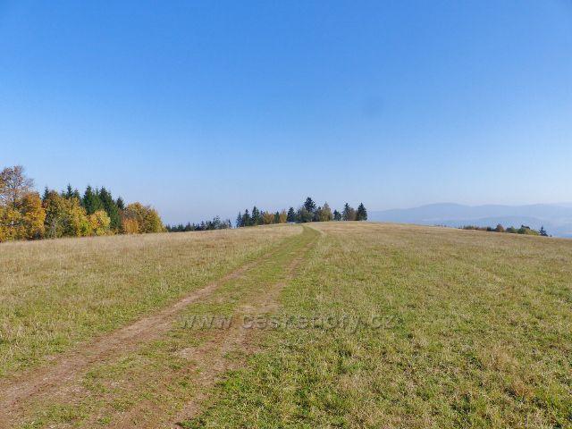 Petrovičky - hřebenová cesta po pastvině od Kašparovy chaty k Adamu