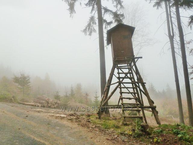 Lichkov - mlha pod posedem u Mladkovské bunkrovky