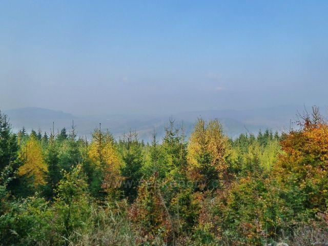 Mladkov - pohled z Mladkovské bunkrovky k Mladkovské vrchovině