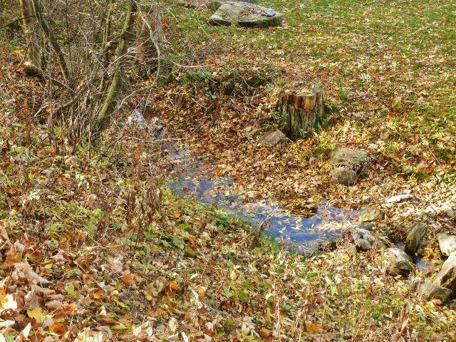 Zlatý Potok - téměř vyschlý Zlatý potok za chatou Zlatěnka