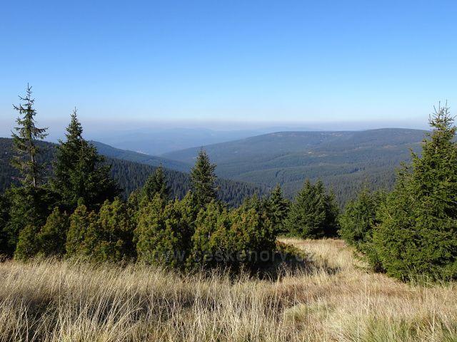 Pohled na západní Krkonoše