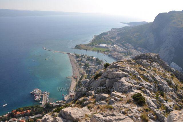 Výhľad z Tvrdava Stari grad Omiš