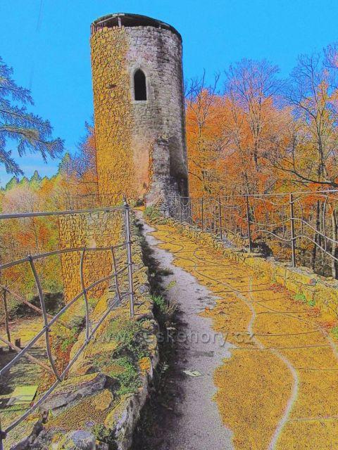 věž v hradu Cimburk
