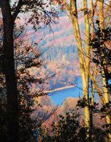 pohled na přehradu nedaleko hradu Cimburk