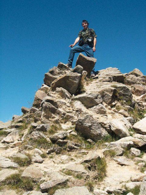 na vrcholu Kralického Sněžníku - výhled do krajiny