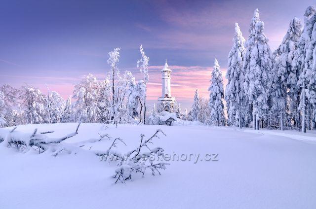 Zimní království na rozhledně Štěpánka.