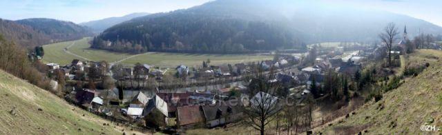 Hoštejn, údolí Moravské Sázavy