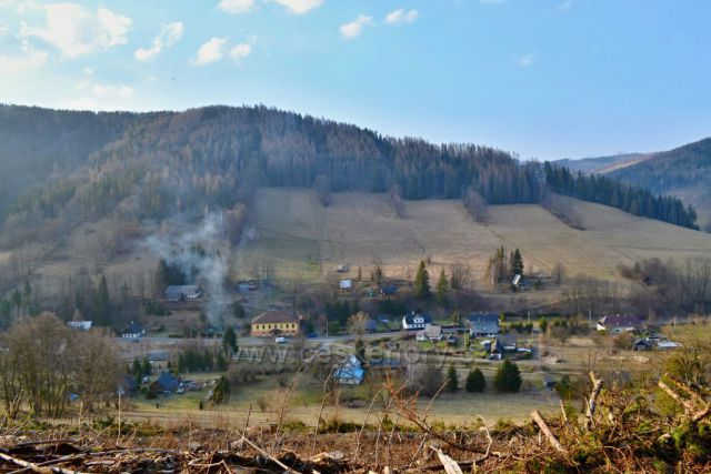 Výhledy na Holčovice místní část Komora.