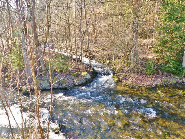 Soutok Vysokého potoka s Moravou