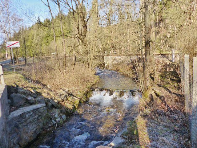 Potok Malá Morava před soutokem s řekou Moravou