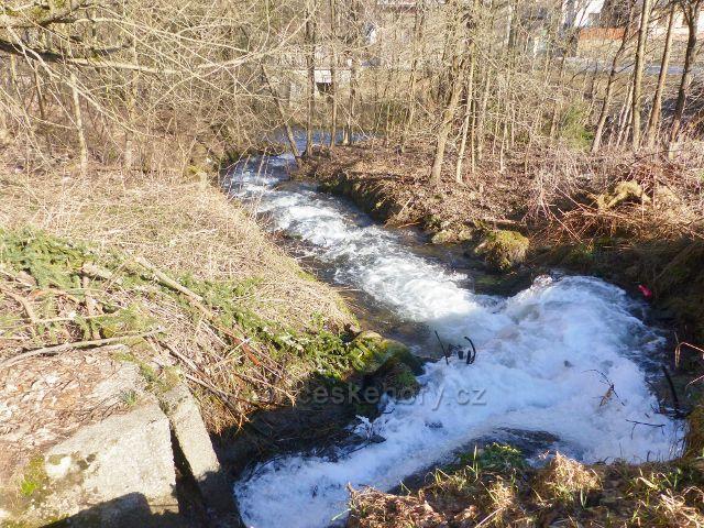 Vysoký potok před soutokem s Moravou