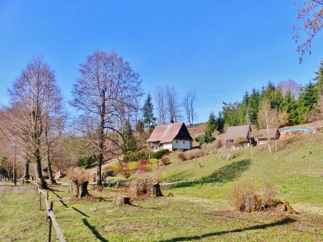 Rekreační zástavba v obci Malá Morava