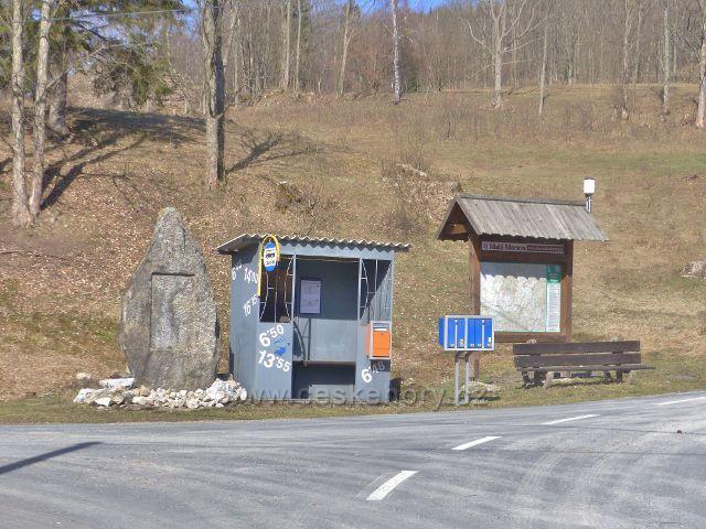 Autobusová zastávka Malá Morava,Sklené, konečná