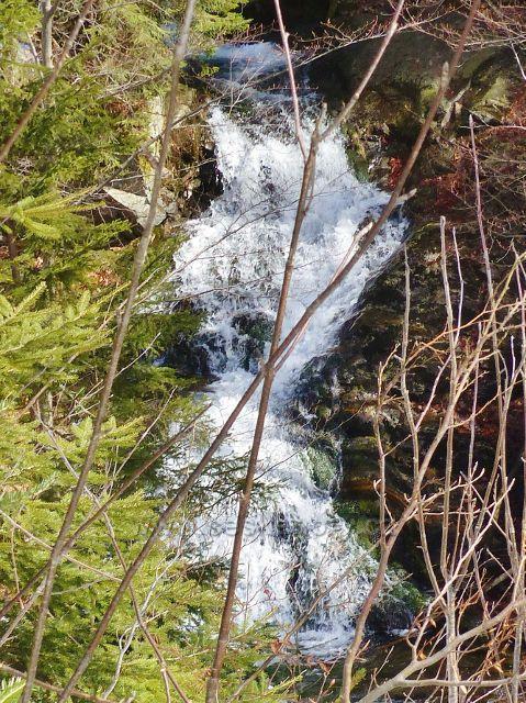 Sklené - nejvyšší vodopád na toku Malé Moravy