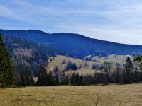 Sklené - pohled ke Sviní hoře (1074 m.n.m.)
