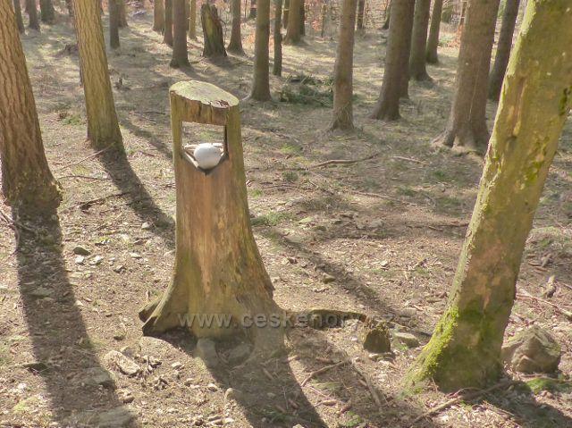 Sklené - liz pod krmelcem u cesty na Dolní Moravu