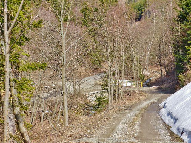 Dolní Morava - pohled na rozcestí Smolkův most