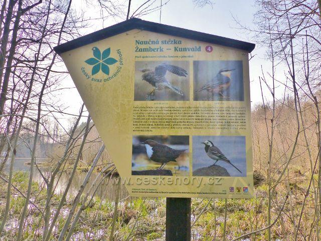 NS Žamberk-Kunvald,tabule 4.zastavení(ptačí společenství rybníka Dymlova a jeho okolí)