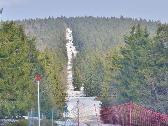 Šerlich -bežecká trať po polské straně hranice