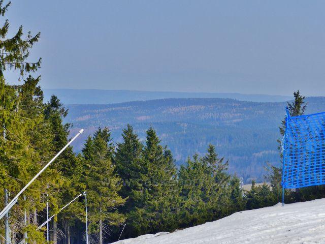 Šerlich - pohled na lesnatý komplex Bystřických hor