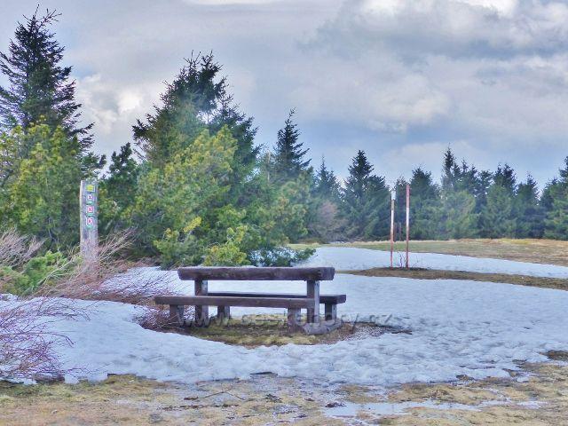 JV vrchol Šerlichu(1019 m.n.m.) je jen několik metrů nad Masarykovo chatou