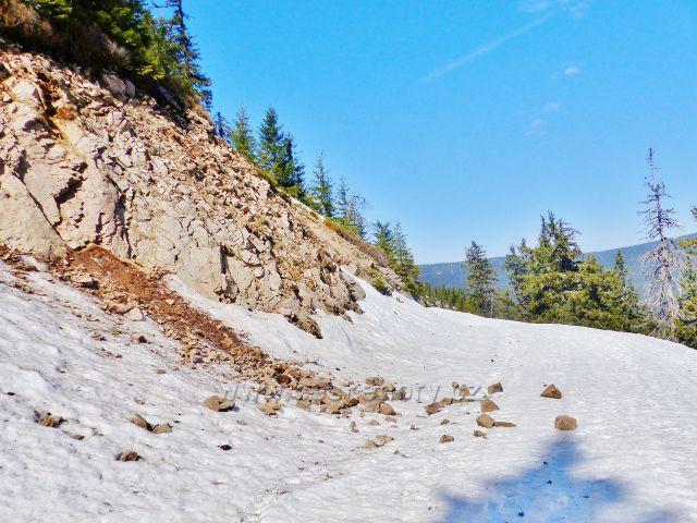 Působení povětrnostních vlivů na skalní podloží Uhliska