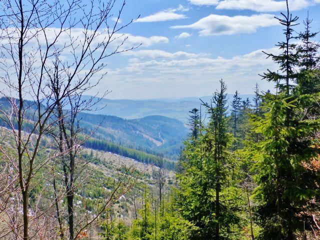 Pohled z úbočí Slamníku do údolí Mlýnského potoka